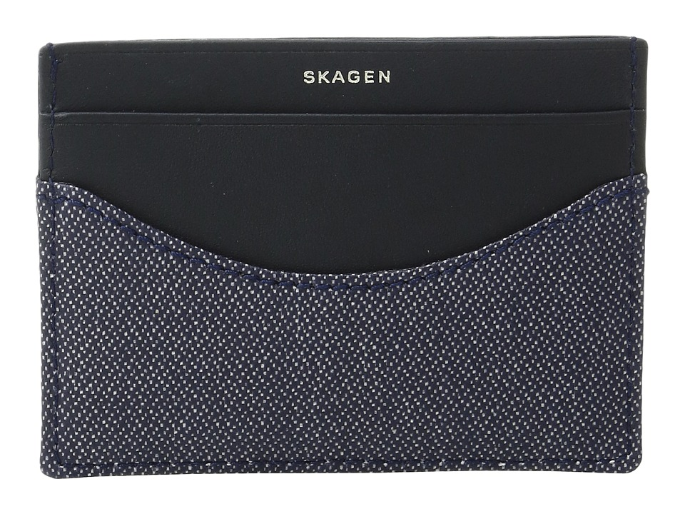Skagen - Torben Card Case (Ink) Credit card Wallet