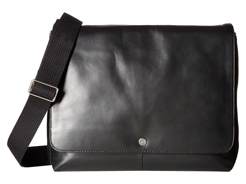 Skagen - Eric Leather Messenger (Black) Messenger Bags