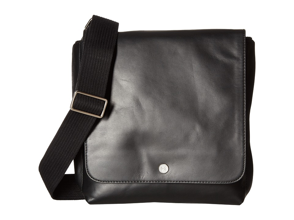 Skagen - Gade Leather Small Messenger (Black) Messenger Bags