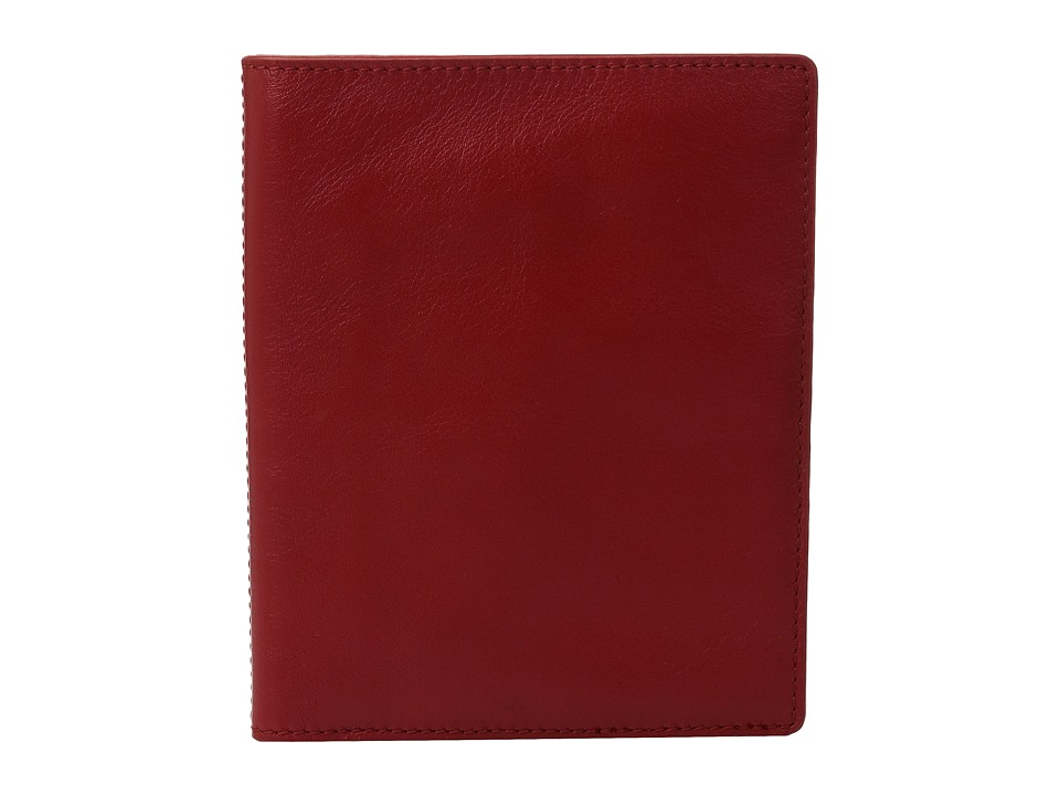 Skagen - Leather Passport Sleeve (Red) Wallet