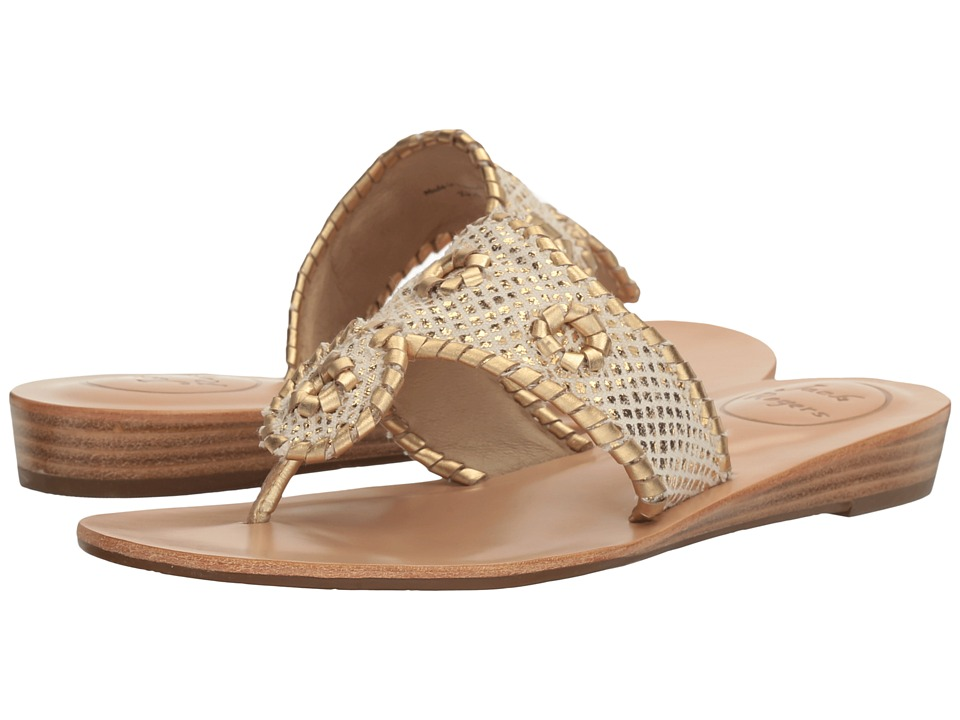 Jack Rogers Carissa (White/Gold) Women