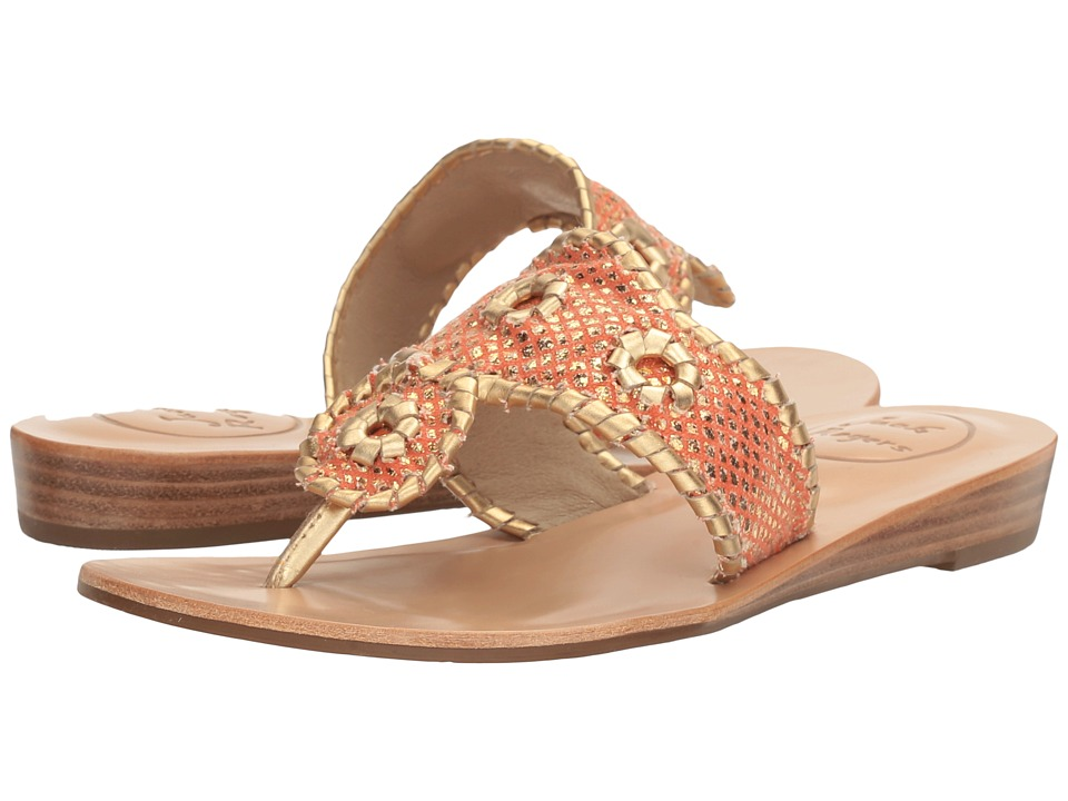 Jack Rogers Carissa (Fire Coral/Gold) Women