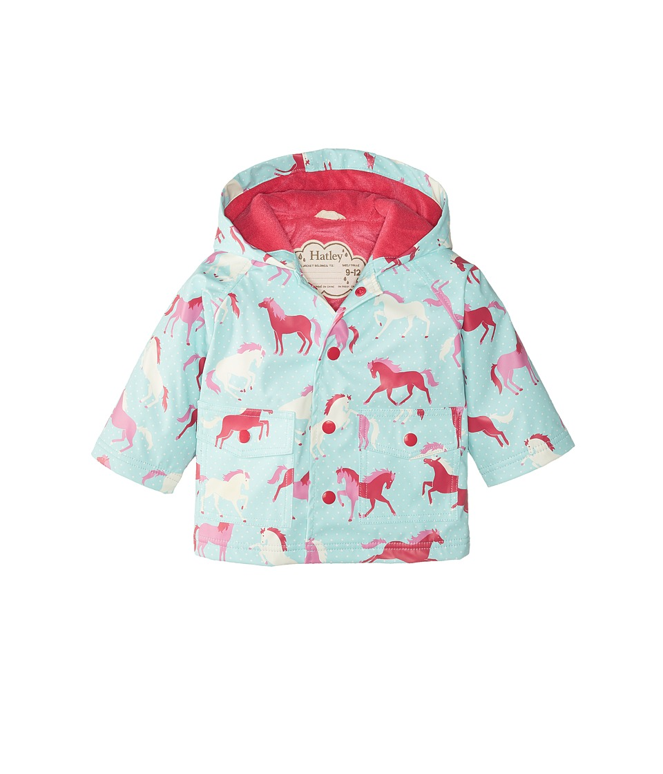 Hatley Kids - Ponies Polka Dots Raincoat (Infant) (Blue) Girl's Coat