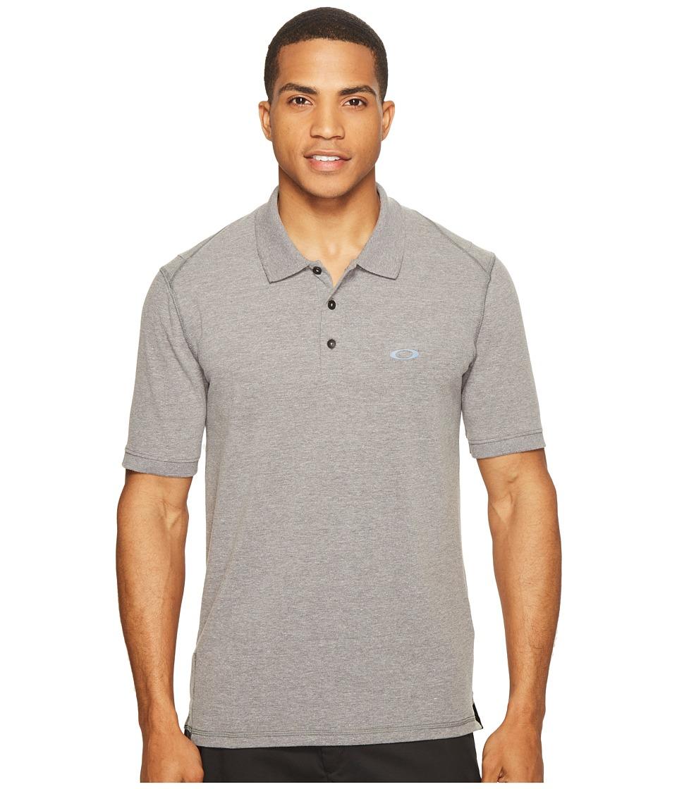 Oakley - Icon Short Sleeve Polo (Athletic Heather Grey) Men's Short Sleeve Pullover