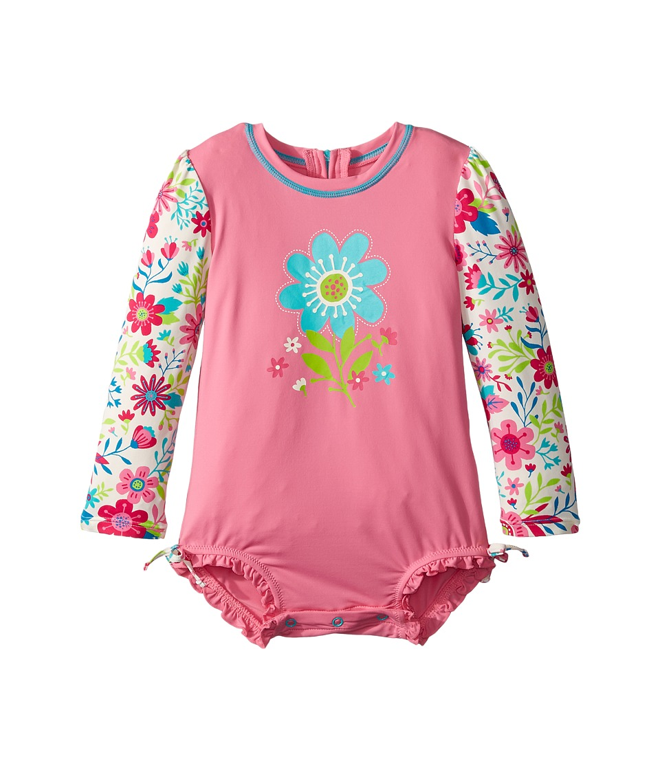 Hatley Kids - Wallpaper Flowers Rashguard (Infant) (Pink) Girl's Swimwear