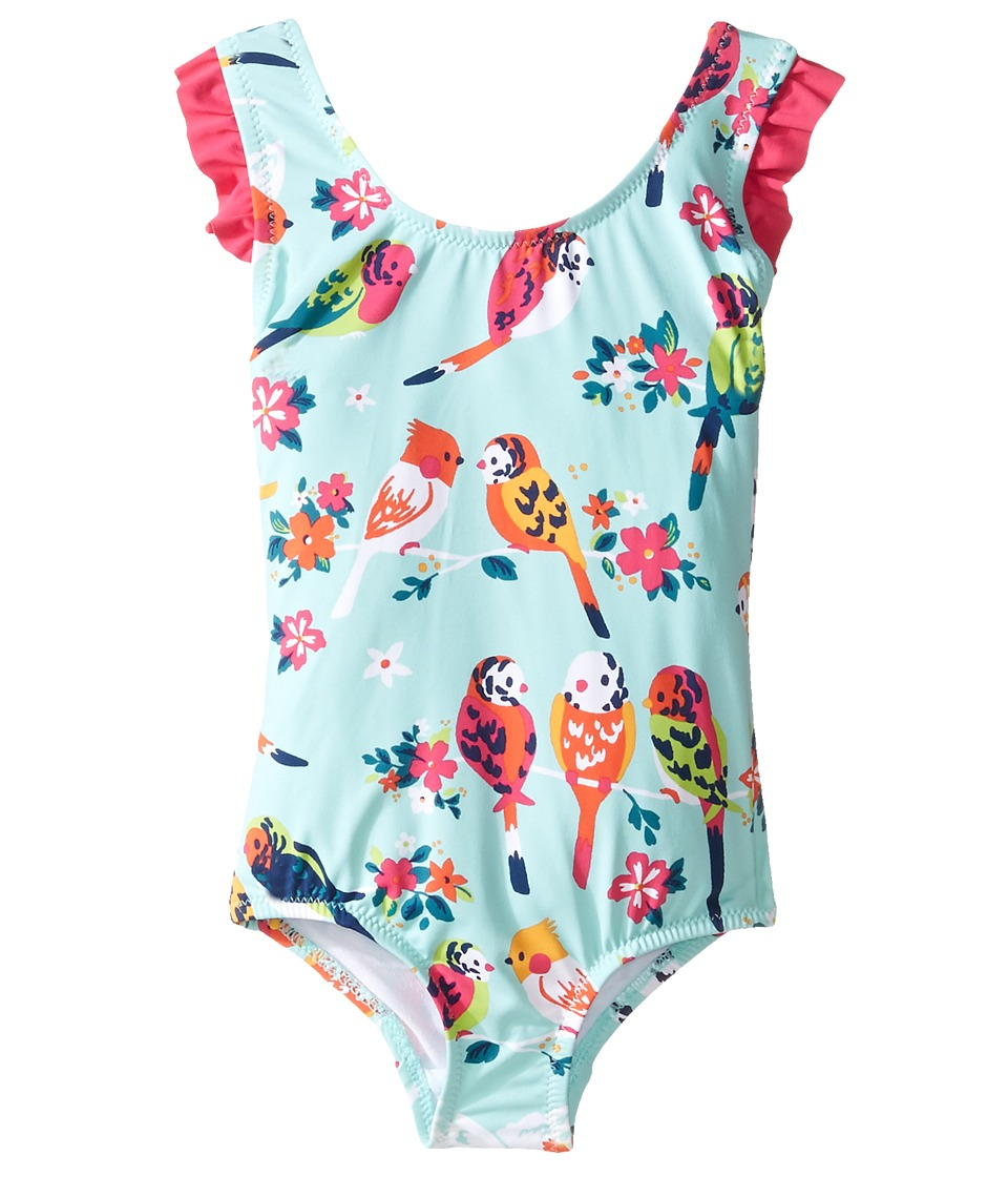 Hatley Kids - Tropical Birds Swimsuit (Toddler/Little Kids/Big Kids) (Aqua) Girl's Swimsuits One Piece