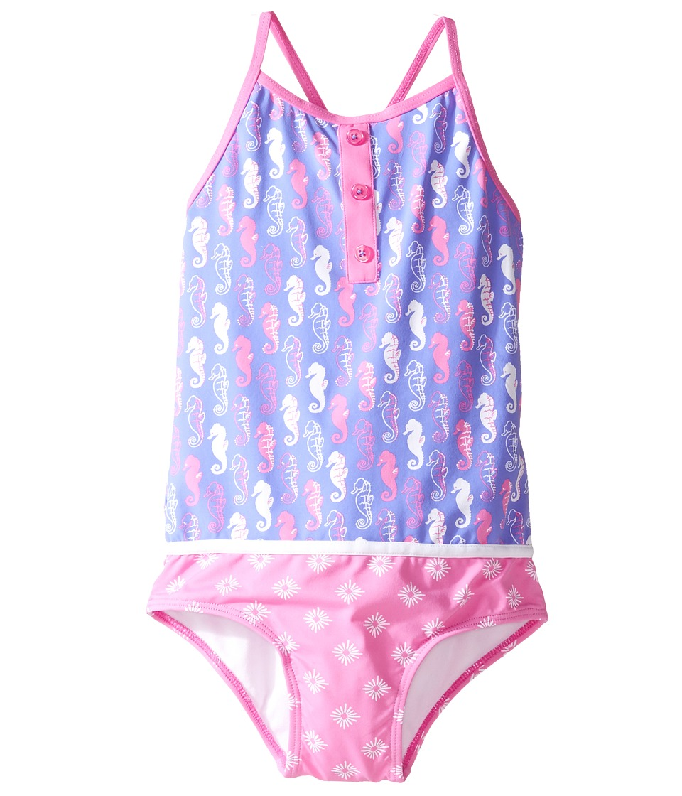 Hatley Kids - Seahorse Color Block Swimsuit (Toddler/Little Kids/Big Kids) (Purple) Girl's Swimsuits One Piece