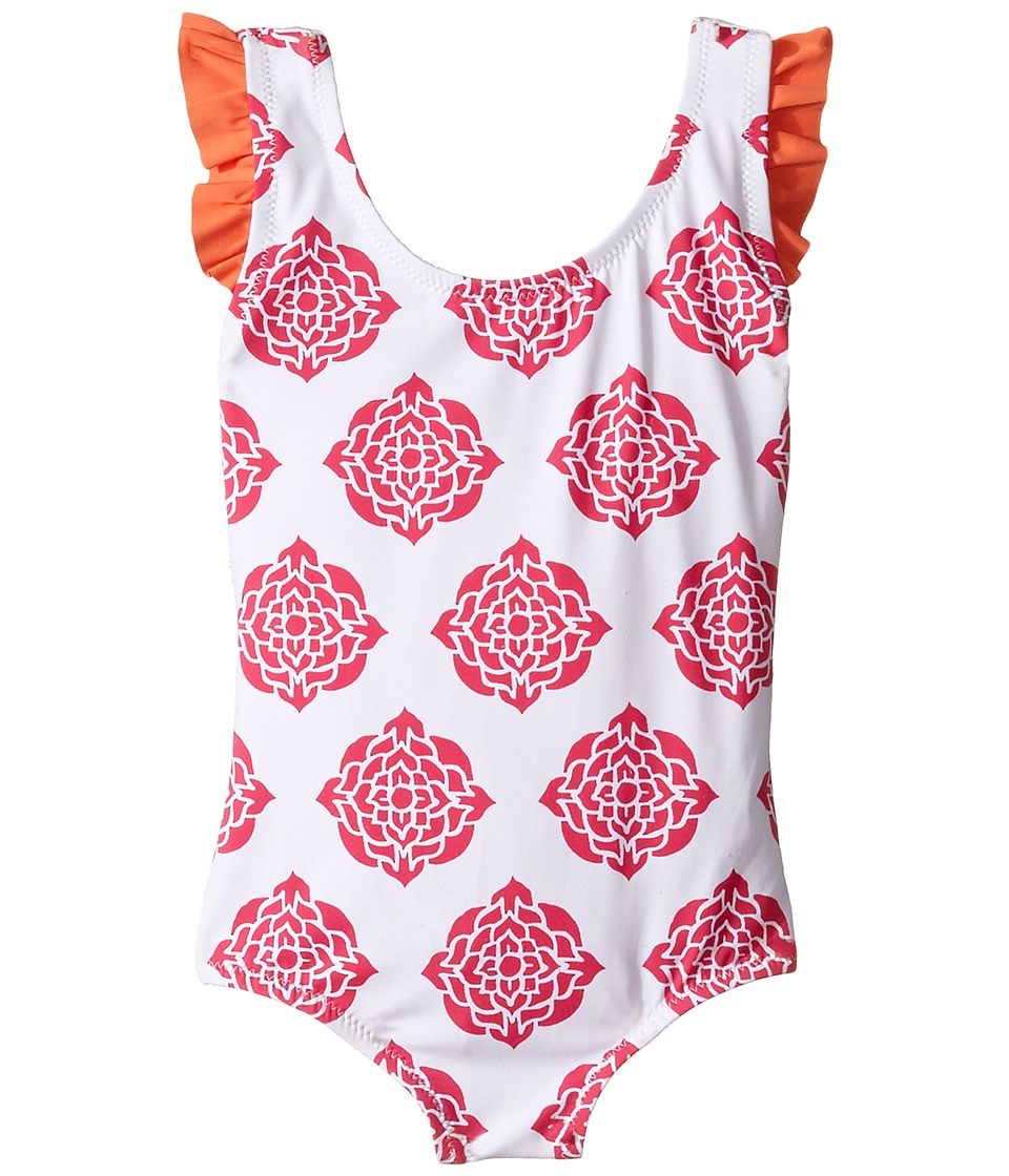 Hatley Kids - Henna Floral Swimsuit (Toddler/Little Kids/Big Kids) (White) Girl's Swimsuits One Piece