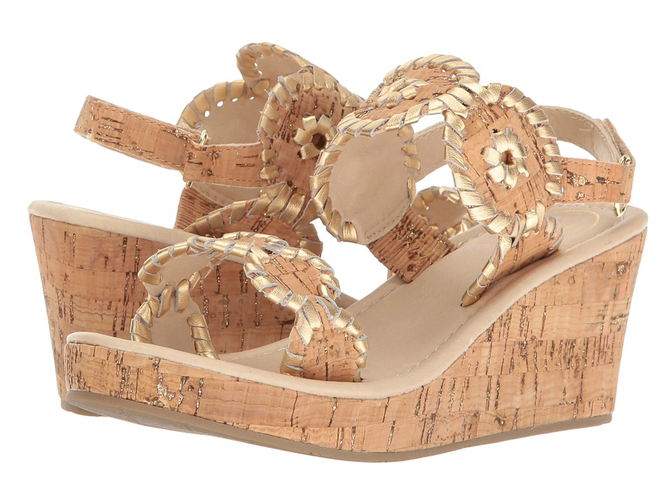 Jack Rogers - Miss Luccia (Toddler/Little Kid/Big Kid) (Cork/Gold) Women's Wedge Shoes