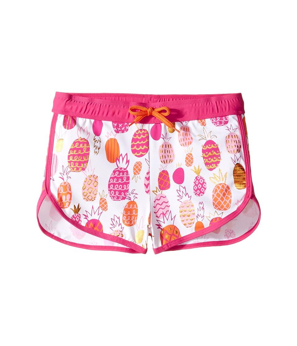 Hatley Kids - Tropical Pineapple Swim Shorts (Toddler/Little Kids/Big Kids) (White) Girl's Swimwear