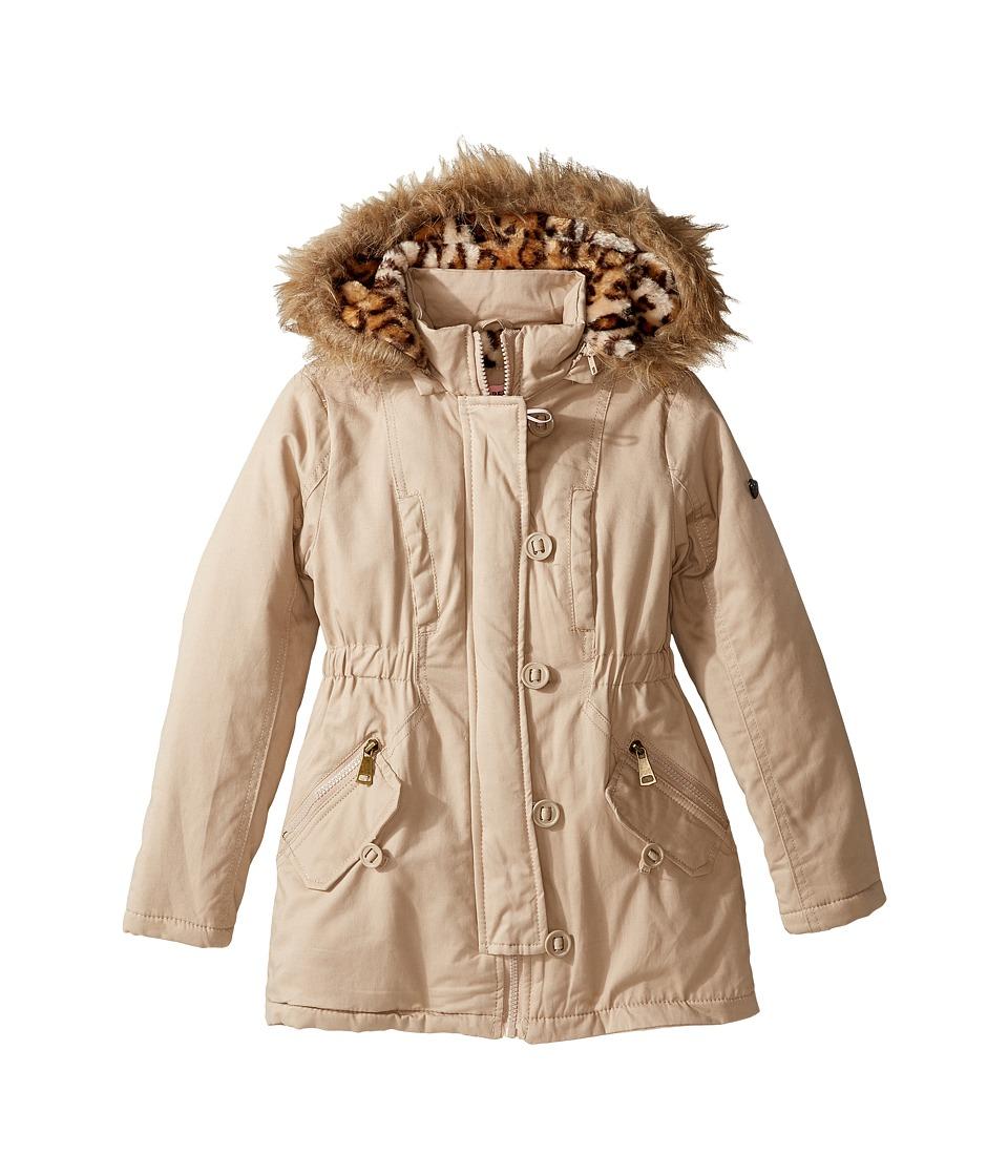 Urban Republic Kids Cotton Twill Anorak Jacket (Little Kids/Big Kids) (Stone) Girl