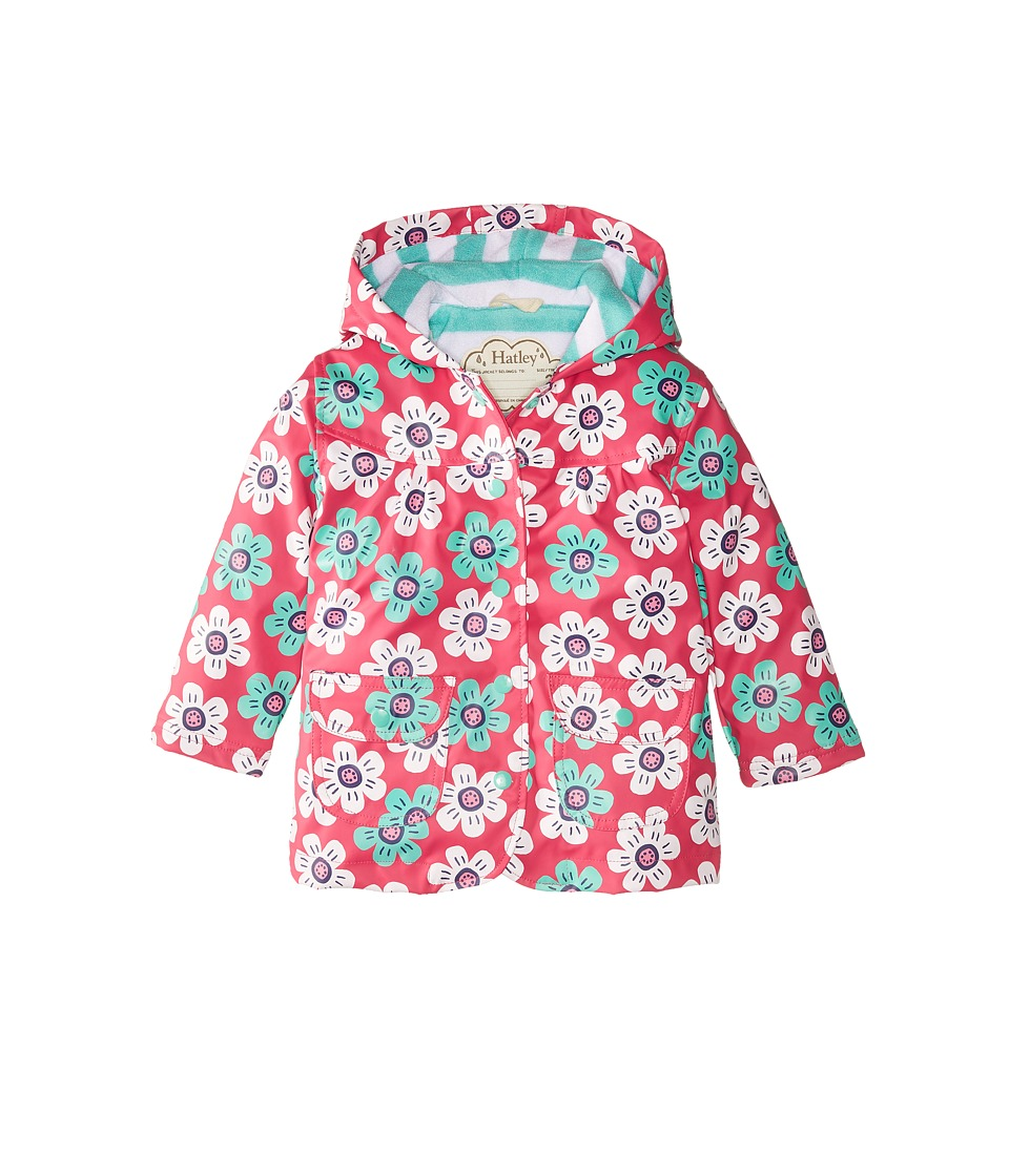Hatley Kids - Graphic Daisies Raincoat (Toddler/Little Kids/Big Kids) (Pink) Girl's Coat