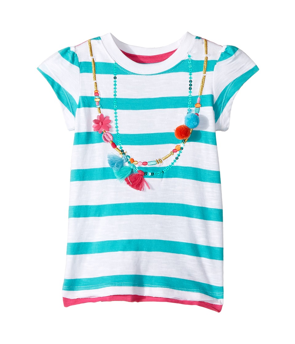 Hatley Kids - Shell Necklace Graphic Tee (Toddler/Little Kids/Big Kids) (White) Girl's T Shirt