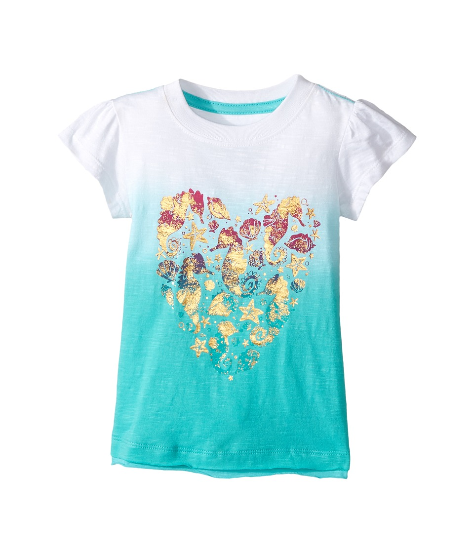Hatley Kids - Sea Horse Heart Graphic Tee (Toddler/Little Kids/Big Kids) (White) Girl's T Shirt