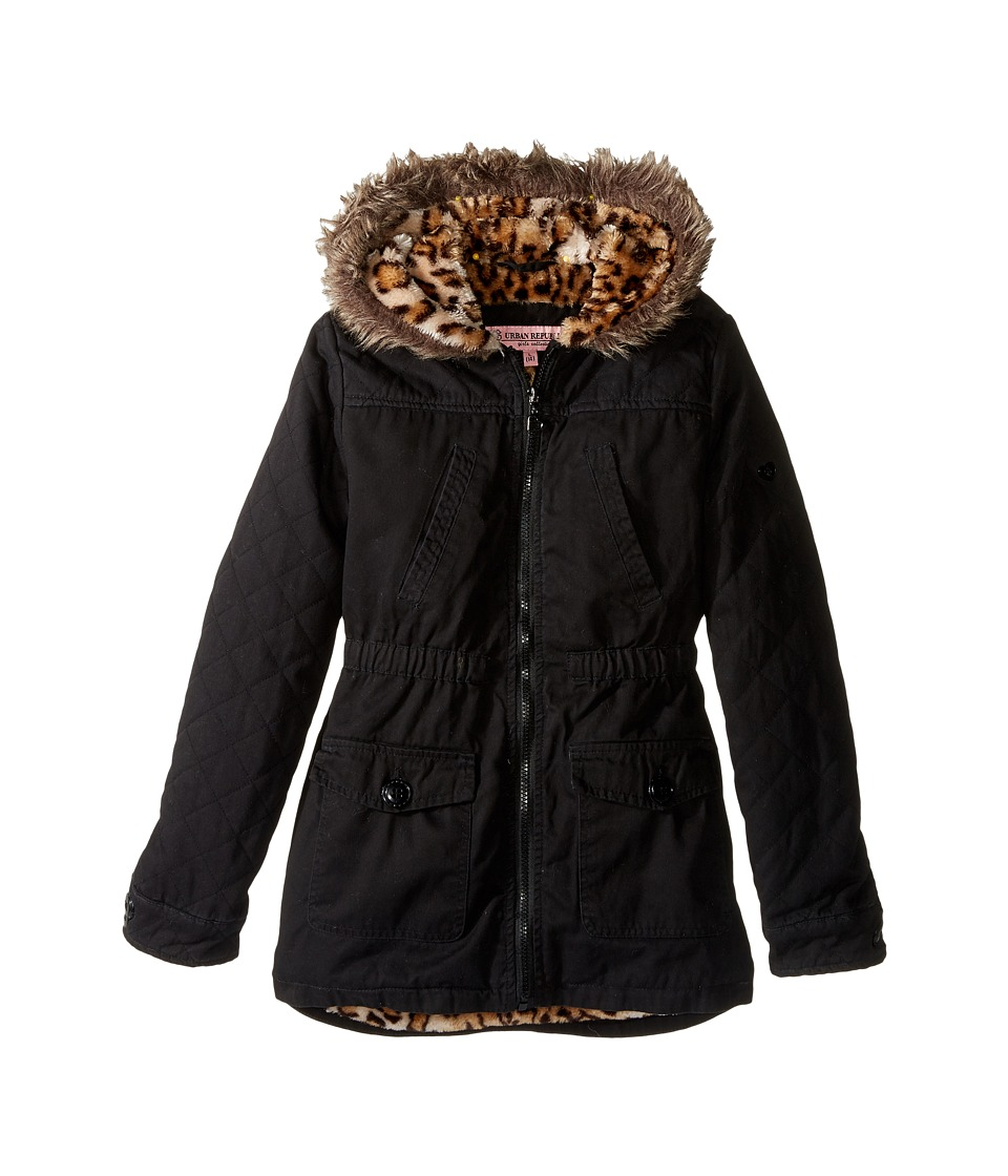 Urban Republic Kids - Cotton Twill Jacket (Little Kids/Big Kids) (Black) Girl's Coat