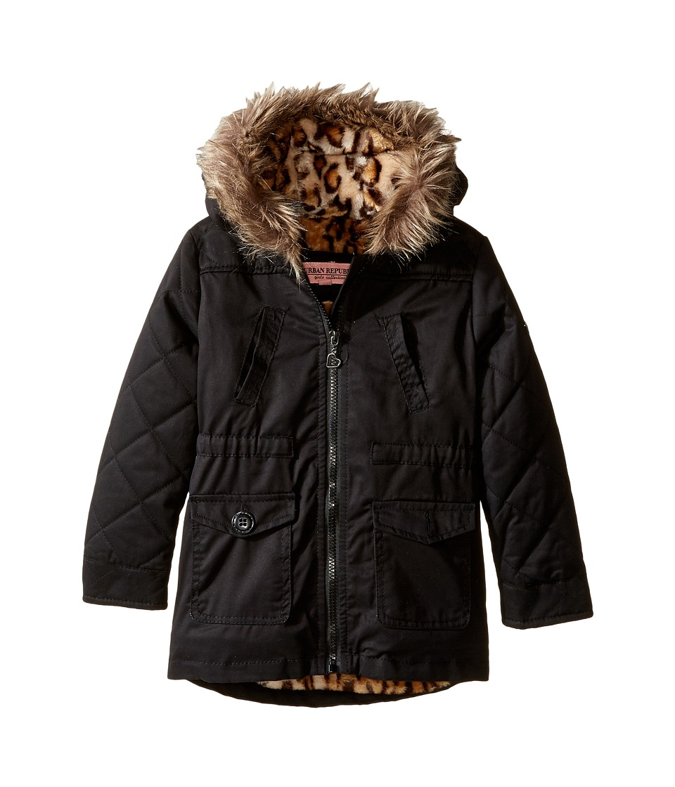 Urban Republic Kids - Cotton Twill Jacket (Infant/Toddler) (Black) Girl's Coat