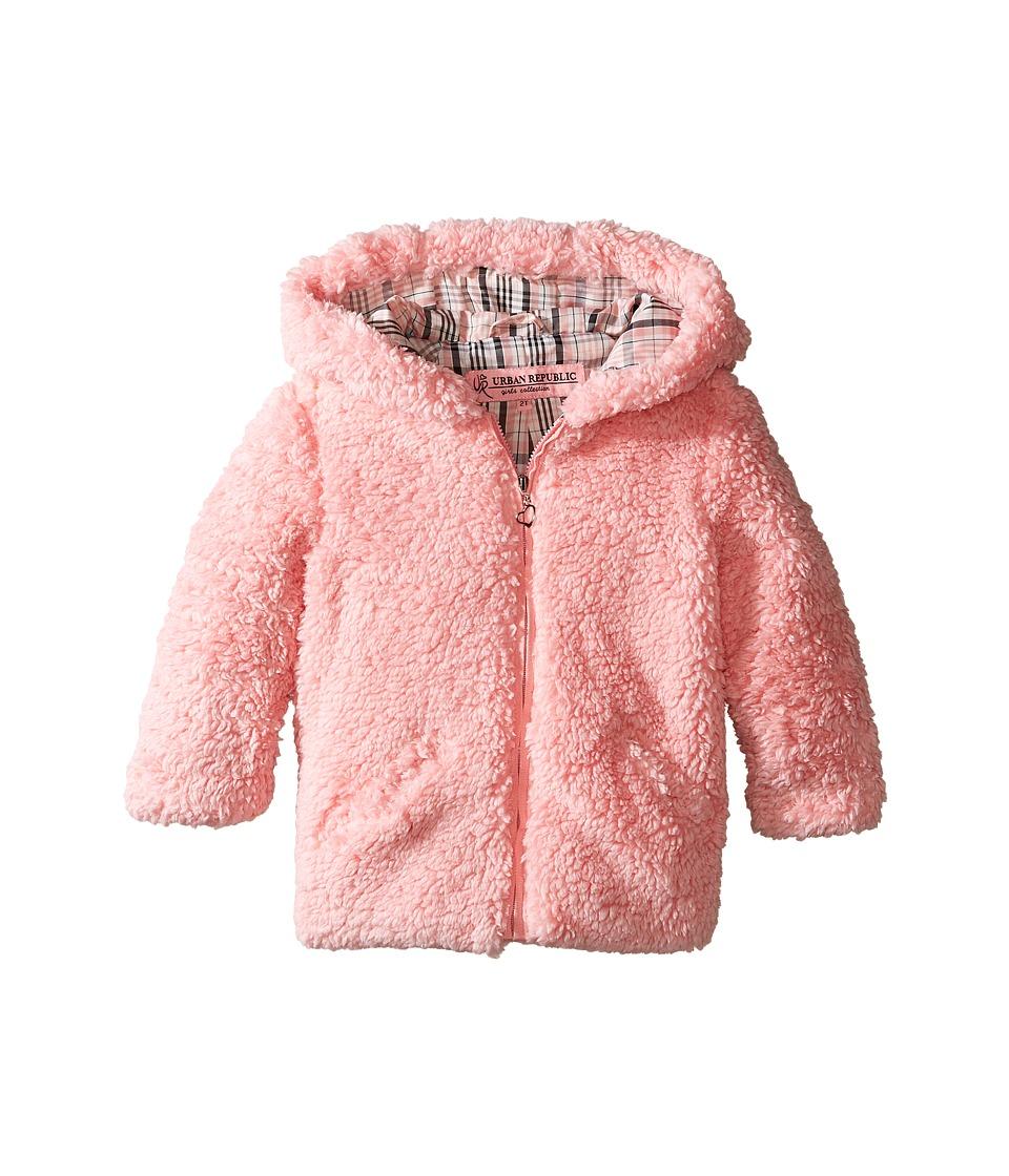 Urban Republic Kids - Sherpa Jacket (Infant/Toddler) (Powder Pink) Girl's Coat
