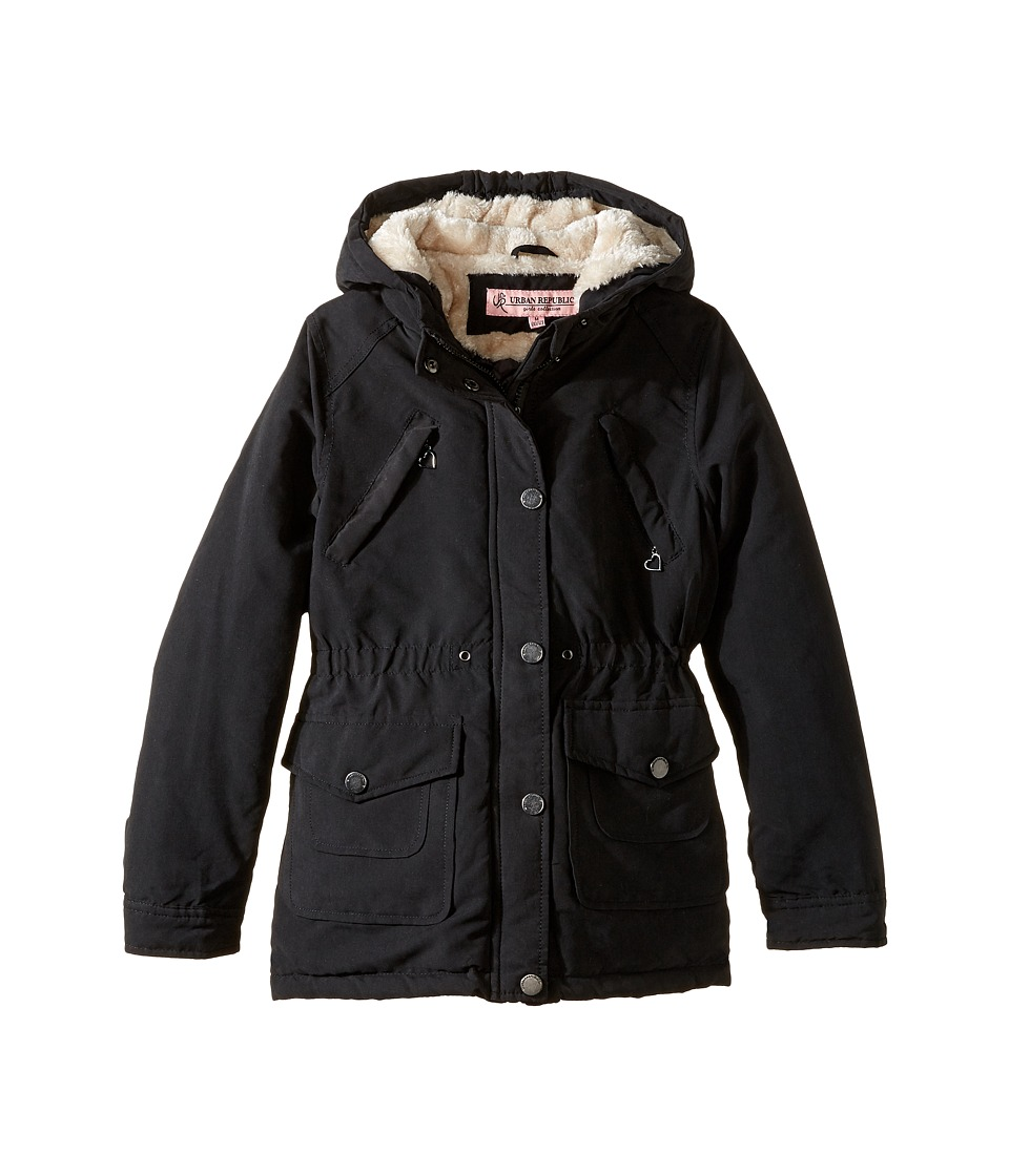 Urban Republic Kids - Peach-Finish Microfiber Jacket (Little Kids/Big Kids) (Black) Girl's Coat