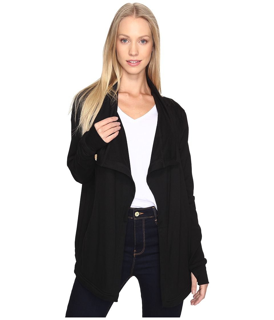 B Collection by Bobeau - Terry Jacket (Black) Women's Coat