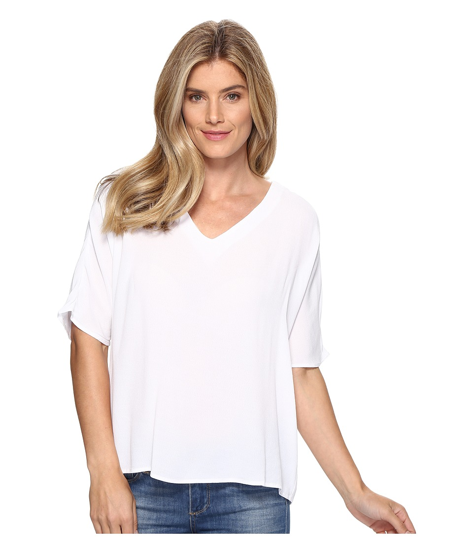 B Collection by Bobeau - Becca Pleat Back Blouse (Off-White) Women's Blouse