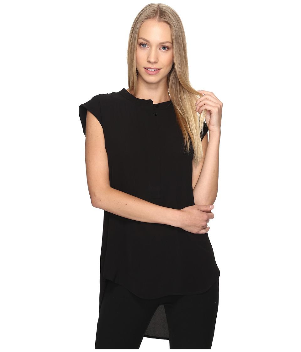 B Collection by Bobeau - Allegra Woven Blouse (Black) Women's Blouse
