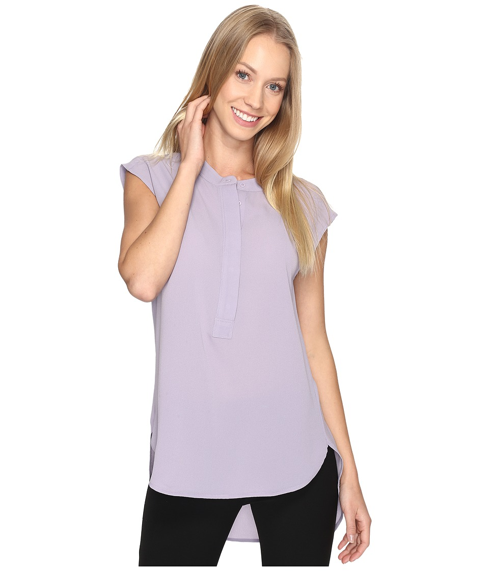 B Collection by Bobeau - Allegra Woven Blouse (Lilac) Women's Blouse