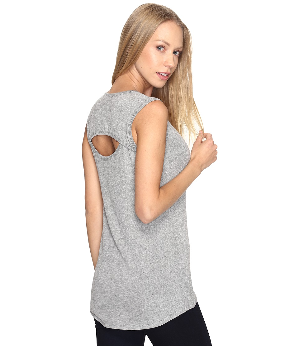 B Collection by Bobeau Athletic Knit Tank Top (Heather Grey) Women