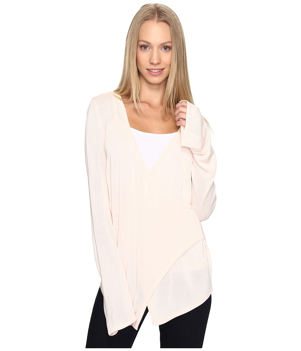 B Collection by Bobeau - Pullover Sweater w/ Flare Sleeve (Pale Pink) Women's Sweater