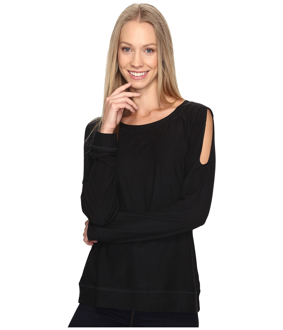 B Collection by Bobeau - Cold Shoulder Tee (Black) Women's T Shirt