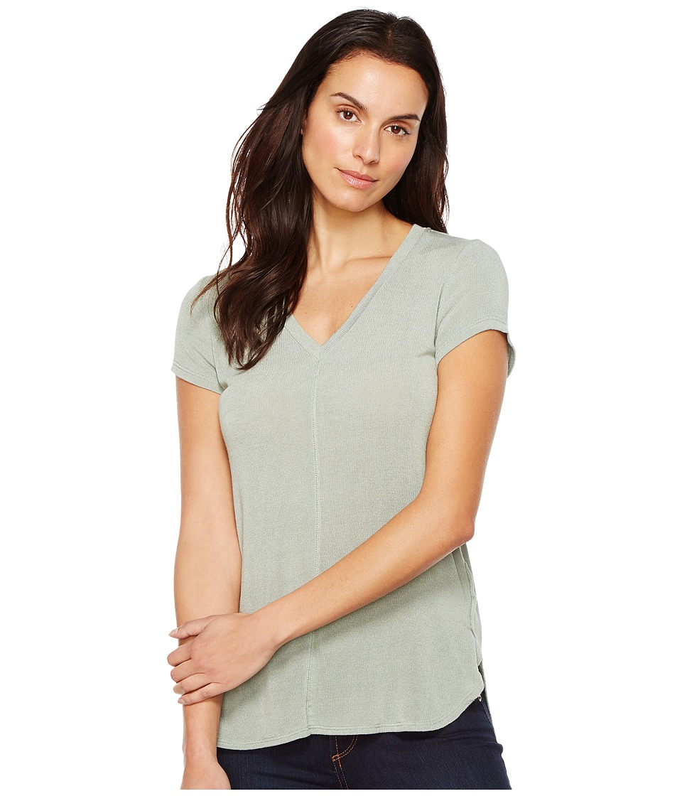 B Collection by Bobeau - Adley V-Neck High-Low T-Shirt (Avocado) Women's T Shirt