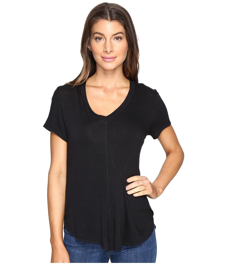B Collection by Bobeau - Adley V-Neck High-Low T-Shirt (Black) Women's T Shirt