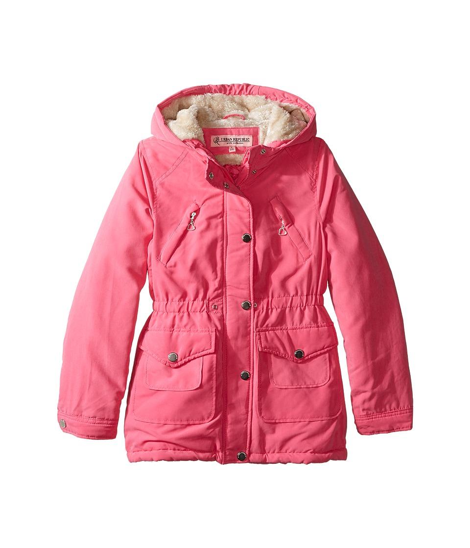 Urban Republic Kids - Peach-Finish Microfiber Jacket (Little Kids/Big Kids) (Pink) Girl's Coat