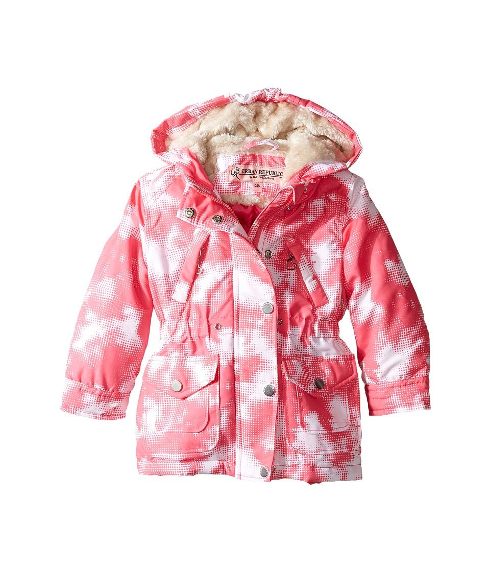 Urban Republic Kids - Peach-Finish Microfiber Jacket (Infant/Toddler) (Pink/White) Girl's Coat
