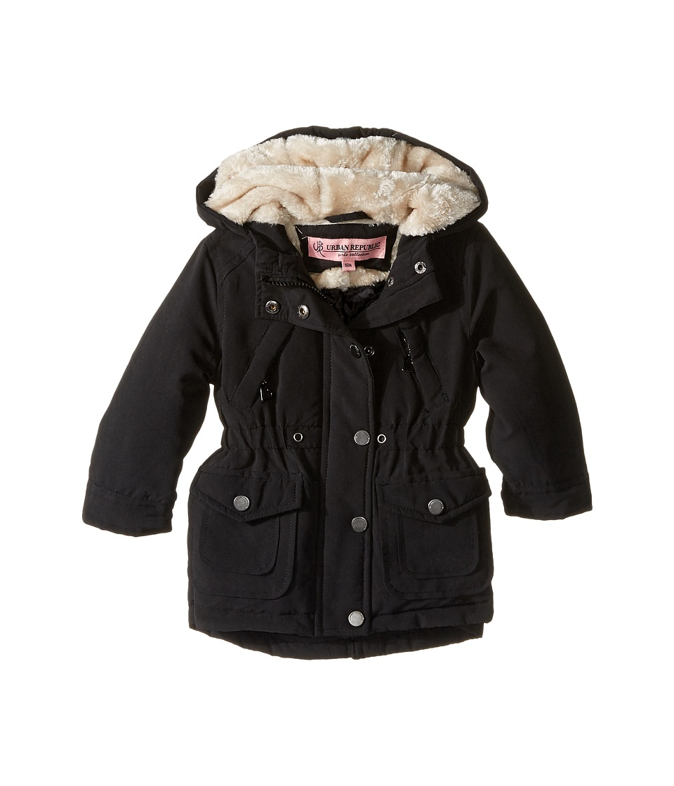 Urban Republic Kids - Peach-Finish Microfiber Jacket (Infant/Toddler) (Black) Girl's Coat