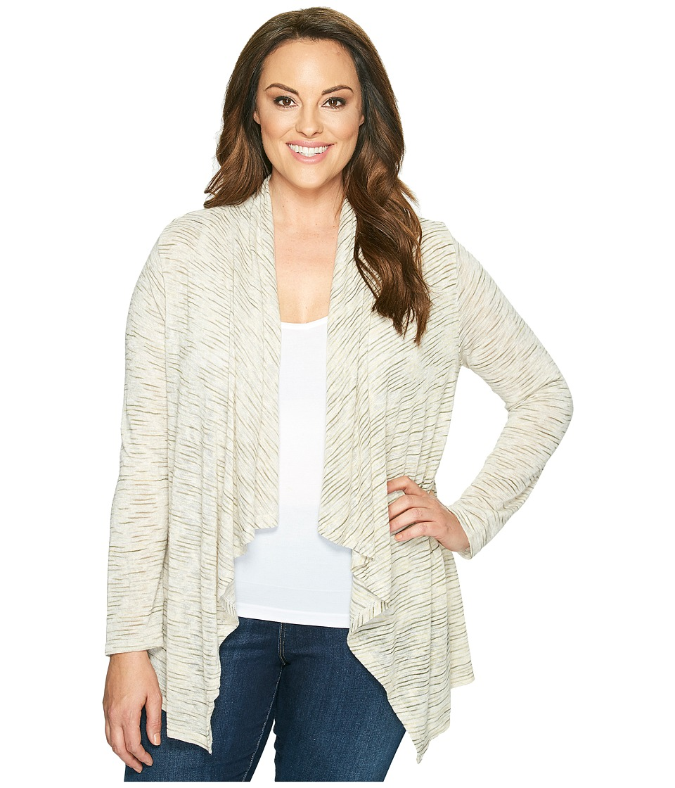 B Collection by Bobeau Curvy - Plus Size Amie Waterfall Cardigan (Olive) Women's Sweater