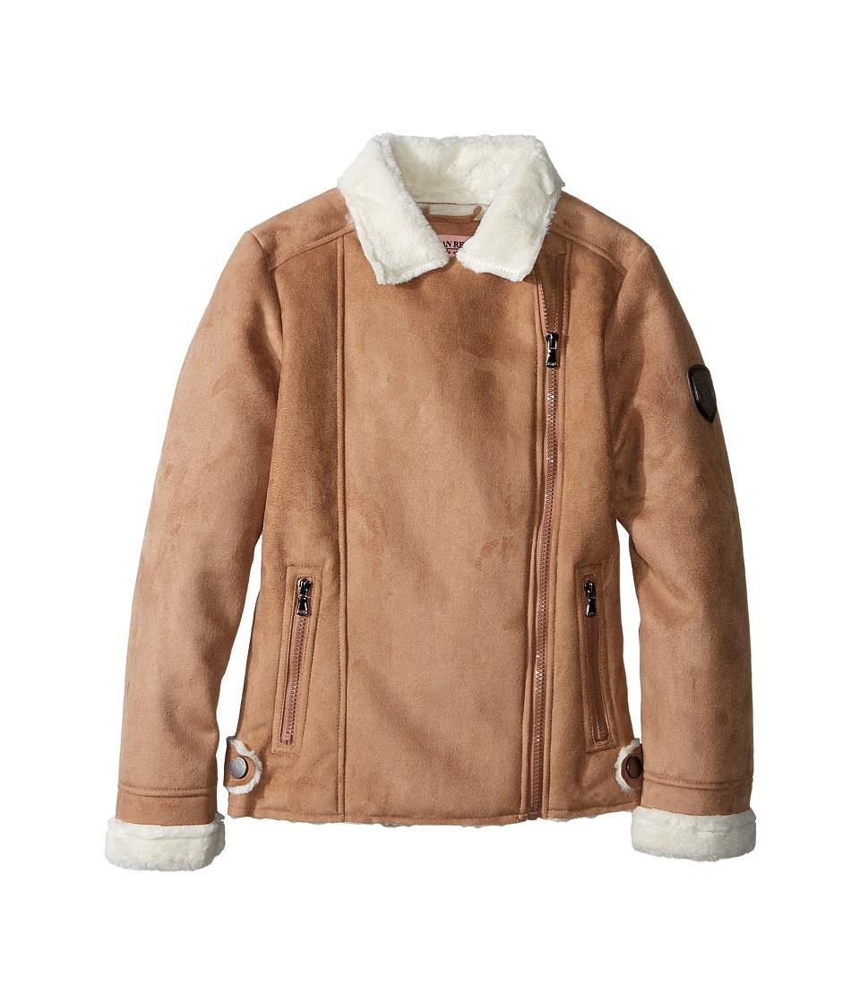 Urban Republic Kids - Ultra Suede Faux Shearling Jacket (Little Kids/Big Kids) (Caramel) Girl's Coat