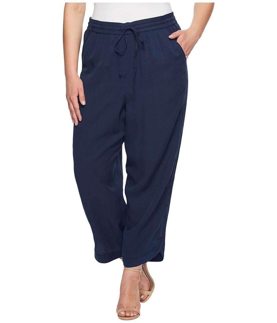 B Collection by Bobeau Curvy - Plus Size Surrey Lyocell Pants (Navy) Women's Casual Pants