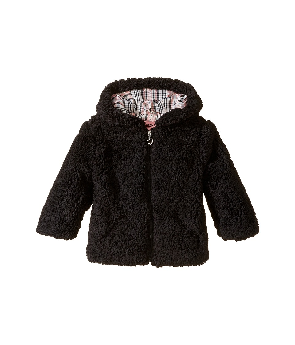 Urban Republic Kids - Sherpa Jacket (Infant/Toddler) (Black) Girl's Coat