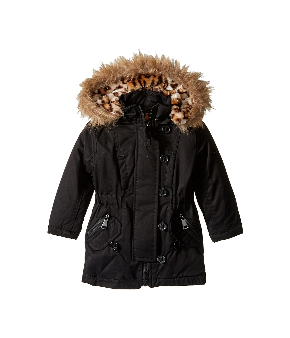 Urban Republic Kids - Cotton Twill Anorak Jacket (Infant/Toddler) (Black) Girl's Coat