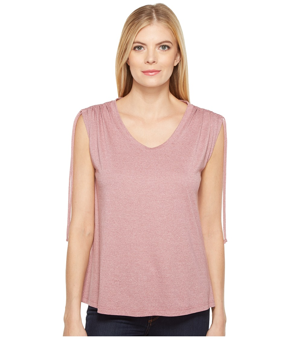 B Collection by Bobeau - Juliette Tie Shoulder T-Shirt (Berry) Women's T Shirt