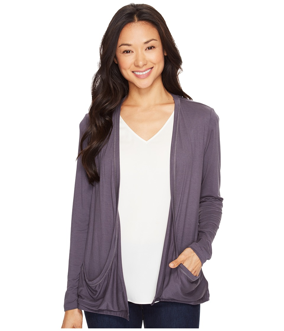 B Collection by Bobeau - Dara Slouch Cardi (Steel) Women's Sweater