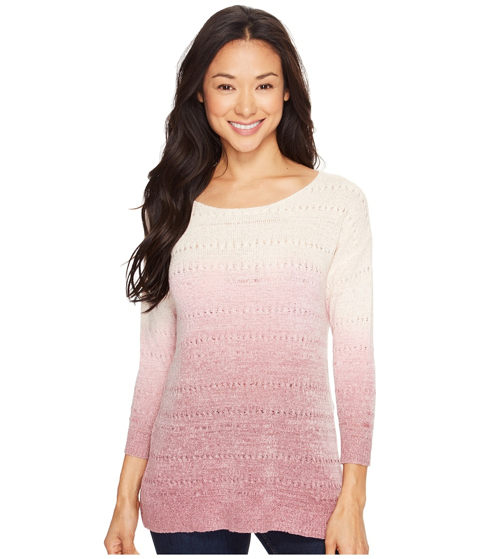 B Collection by Bobeau - Edna Pullover Sweater (Ivory/Pink) Women's Sweater