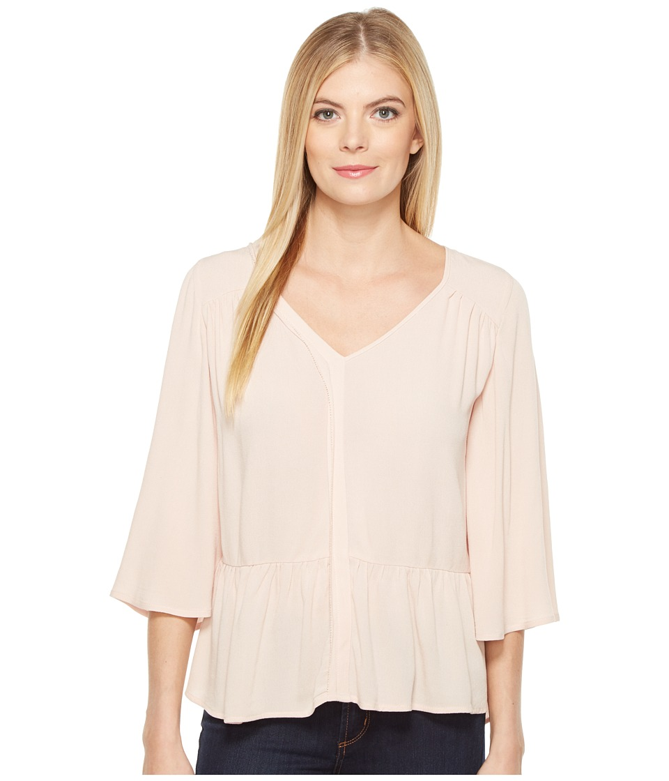 B Collection by Bobeau - Cara Flutter Sleeve (Peach) Women's Short Sleeve Pullover