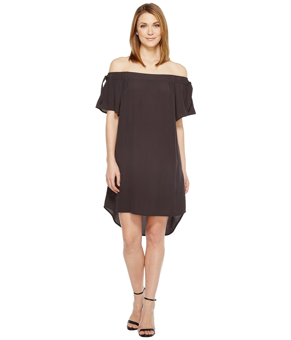 B Collection by Bobeau - Zoie Off Shoulder Dress (Charcoal Grey) Women's Dress