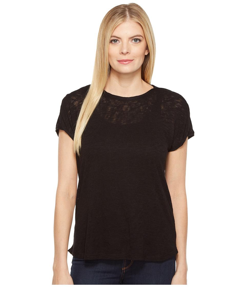 B Collection by Bobeau - Avery Boat Neck T-Shirt (Black) Women's T Shirt