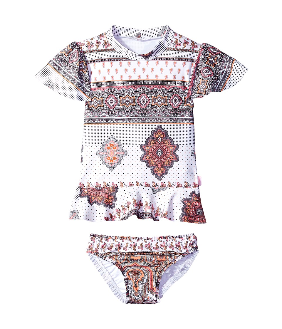 Seafolly Kids - Moroccan Paisley Rashie Set (Infant/Toddler/Little Kids) (Multi) Girl's Swimwear Sets