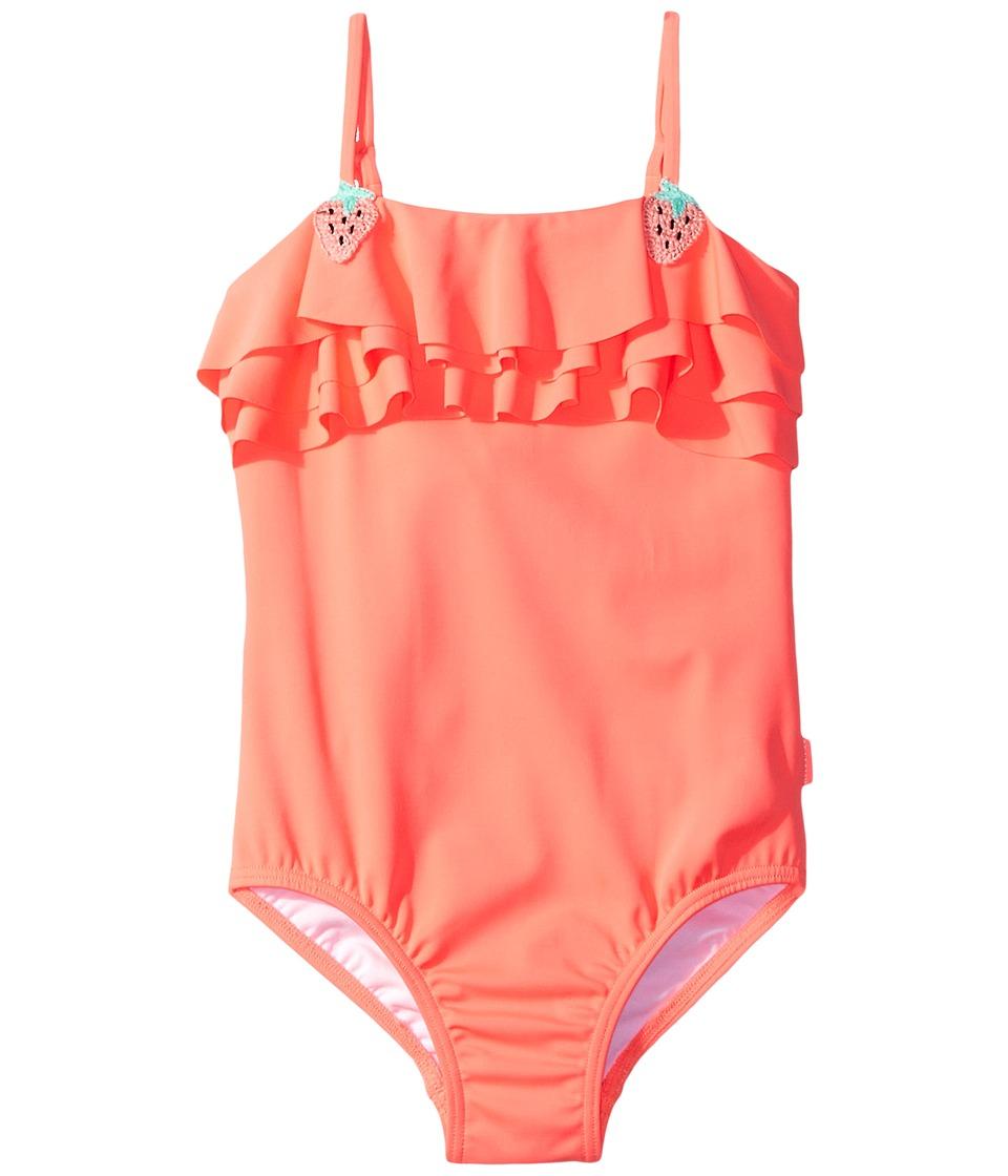 Seafolly Kids - Touci Frutti Ruffle Tank One-Piece (Toddler/Little Kids) (Watermelon Pink) Girl's Swimsuits One Piece
