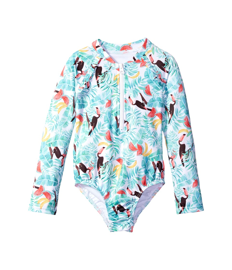 Seafolly Kids - Touci Frutti Long Sleeve Surf Tank One-Piece (Infant/Toddler/Little Kids) (Multi) Girl's Swimsuits One Piece