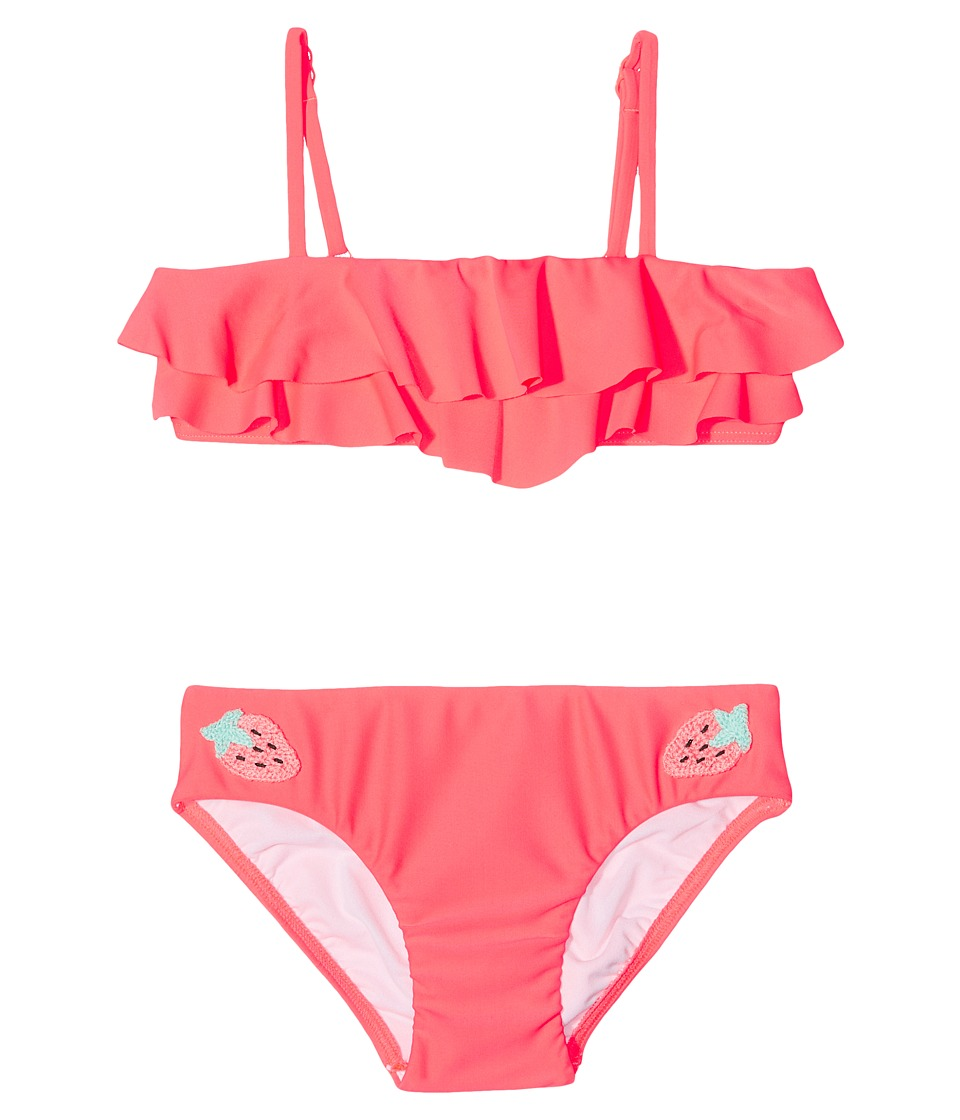 Seafolly Kids - Touci Frutti Ruffle Mini Tube Bikini Set (Toddler/Little Kids) (Watermelon Pink) Girl's Swimwear Sets