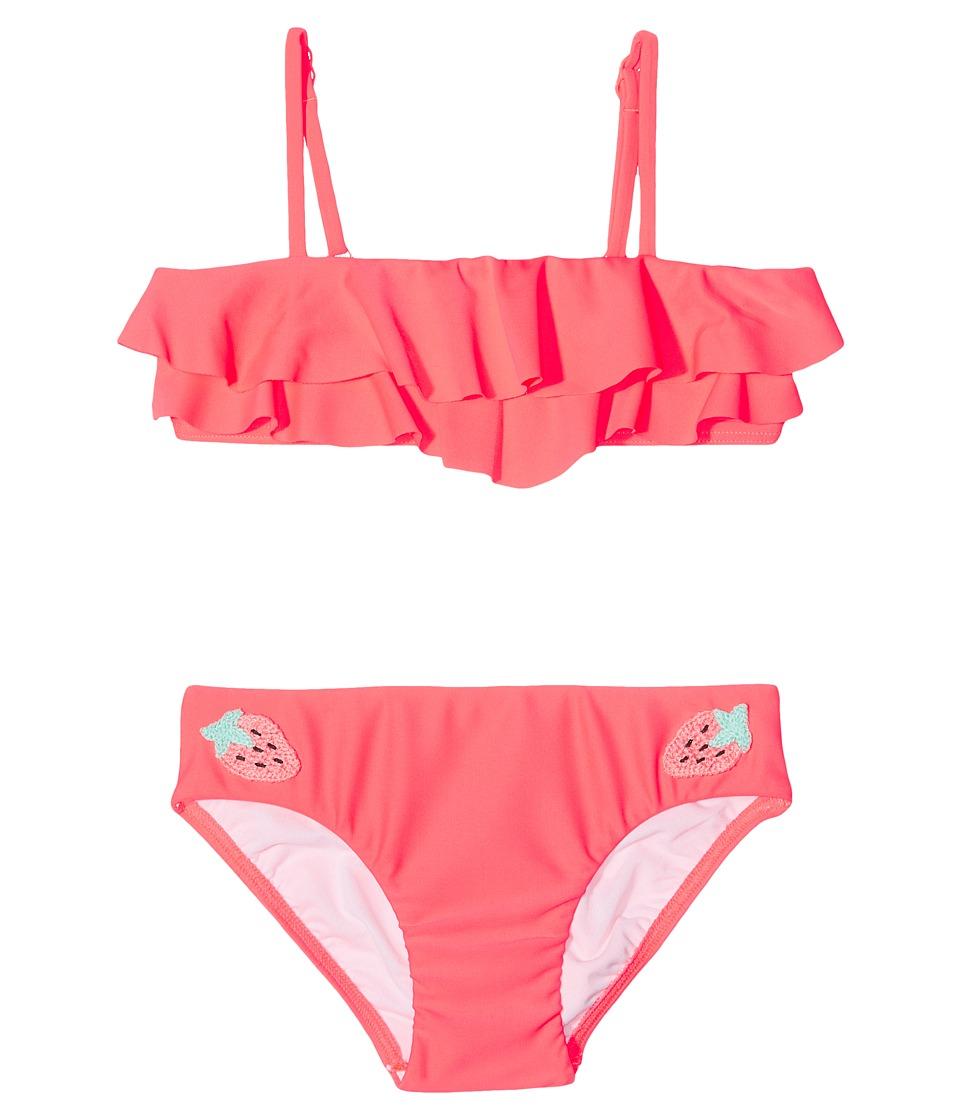 Seafolly Kids - Touci Frutti Ruffle Mini Tube Bikini Set (Toddler/Little Kids) (Watermelon Pink) Girl's Swimwear Sets